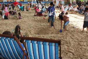 The beach has been a regular feature in Middleton Hall down the years