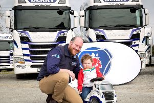 Patrick Derry with youngest son Thomas (2)