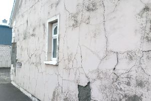 A house affected by Mica.