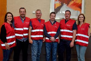 Loughs Agency staff at the NIPSA rally held in the City Hotel Recently. From left Gillian Simpson, Declan Lawlor, Andrew Sides, Michael Crosgrove, Ciaran McGonigle and Rachel Scott.  DER3019GS-064