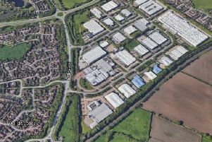 The business park is opposite homes