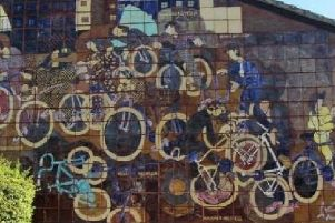 The bicycle mural