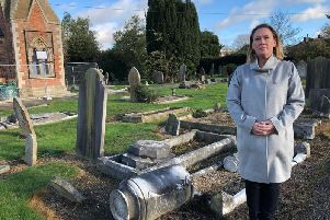 Emily Darlington at the cemetery
