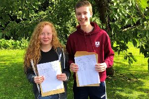 Eva and Nicholas were both awarded 3 A*s
