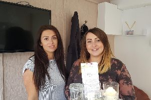 Jade (right) in her salon Bellissmo Beauty and Training Academy, with Chelsie, who specialises in lashes