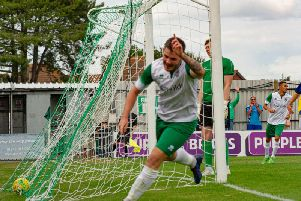 Brad Lethbridge marked his return to the starting line-up with a goal against Sittingbourne / Picture by Tommy McMillan