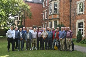 Carres Grammar School old boys who started in 1959, reuniting for tour of old part of the school with headteacher Nick Law. EMN-190909-171318001