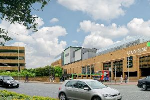 How the cinema will appear on top of the Queensgate Shopping Centre.