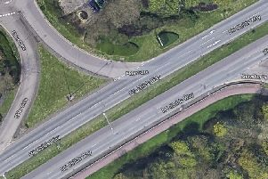 The collision occurred on the busy H6, Childs Way opposite the turn off to Morrisons supermarket near CMK rail station