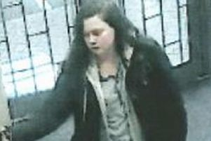 CCTV of Leah before she went missing
