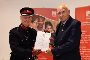 Bryan Egan receives his honour