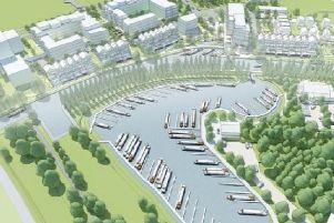 An artist's impression of the new marina development