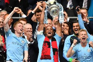 Last season's FA Cup winners Manchester City. Picture courtesy of Getty Images