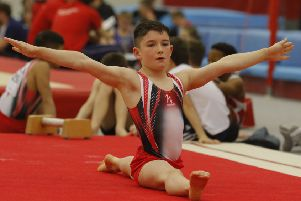 Magherafelt gymnast Jack Eakin is the first NI male gymnast to win a medal in the prestigious all around category of the British NDP finals