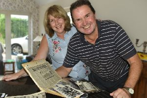 Steve pictured with his wife Carol at their home in Saltby PHOTO: Tim Williams