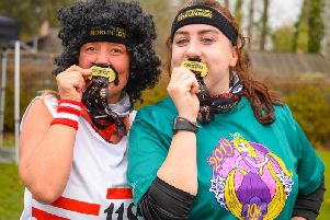 The runners donned moutaches