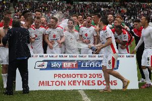MK Dons' promotion-winning team of 2014/15