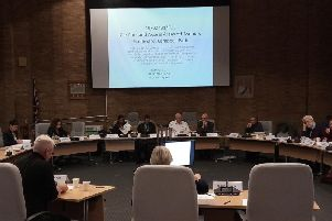 The development control committee discussing the bus for the homeless