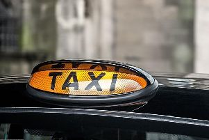 The taxis have been suspended from the road