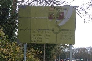 The sign is barely legible