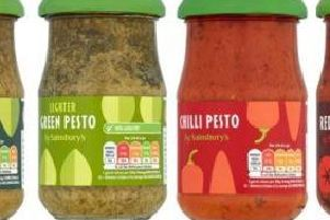 Some of the 190g Sainsbury's pesto affected