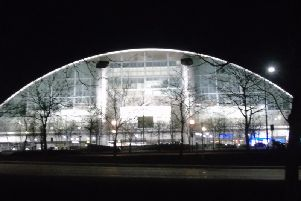 The Xscape at night
