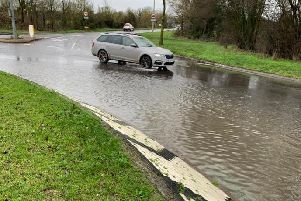 Some roads were underwater