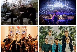 Clockwise from top left: Bagatelle, Paul Van Dyk, Lavengro and Balkan Alien are all lined up to play in Derry.