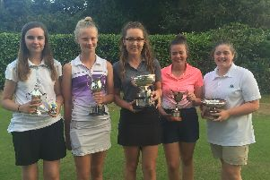 Ruth Brooks, Holly Waterfield, Olivia Barrs, Victoria Mayfield and Kirsten Thorpe