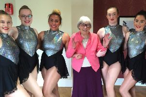 Dancers from the academy with Irene