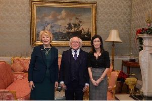 Anne Marie Kennedy with President Michael D Higgins.