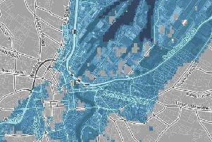 Areas marked in blue are forecast to be submerged by rising sea levels according to Climate Central (Photo: Climate Central)