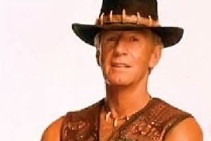 Paul Hogan as Crocodile Dundee previously topped the Christmas listings