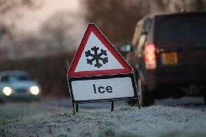 The Met Office issued the warning of ice on Wednesday morning.