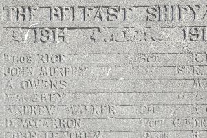 Section of Memorial Bearing McCarron's name. Photo by Mark Thompson