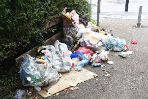 A previous incident of fly-tipping in Broadway