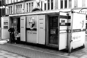 One of the Ulster Cancer Foundation's earliest mobile cancer information units
