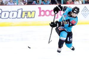Belfast Giants' Hunter Bishop. Photo by William Cherry/Presseye