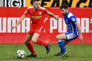 Cliftonville's Conor McMenamin scored the only goal of the game. Photo Kirth ferris/Pacemaker Press