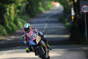Peter Hickman made his Isle of Man TT debut in 2014 on the Ice Valley BMW.