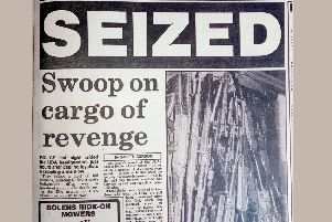 News Letter coverage of loyalist weapons seized in Portadown in January 1988. Former senior police officers have challenged claims that those weapons have a proven link to Loughinisland