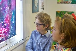 Clapham Terrace Junior School art exhibition