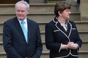 Former first minister and deputy first minister Arlene Foster and Martin McGuinness ' the DUP and SF haven't been able to park the constitutional question