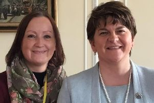 Pamela Barr (left) with DUP leader Arlene Foster in 2016