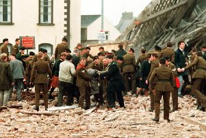 "The aftermath of the IRA Enniskillen Poppy Day massacre. ""The relatives have successfully challenged the misinformation concerning the events of November 8 1987"""