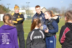 England Touch Rugby star Kate Davis-Bavin gives Melton RFC's new girls' squad some top-level tips EMN-190219-132906002
