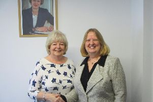 Cllr Mary Mears, chair of Brighton Kemptown Conservatives, with Cllr Anne Meadows, who has defected to the Tories from Labour  (Credit: Kemptown Conservatives)