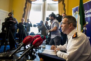 Drew Harris at Garda Headquarters in Dublin. Sinn Fein objected to his appointment as commissioner of An Garda S�och�na
