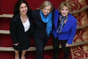 The Conservative MPs who resigned from the party yesterday (from left) Heidi Allen, Sarah Wollaston and Anna Soubry