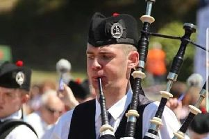John McElmurry who was the Blackthorn Pipers Society guest piper for February.